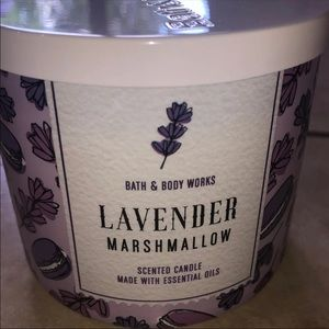 Bath and Body Works Lavender Marshmallow Candle